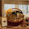 Chocolate Gourmet Wicker Gift Basket with Assorted Sweet Treats