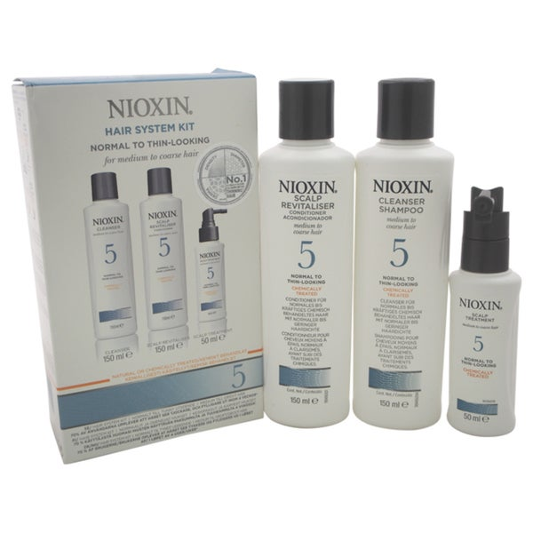 Nioxin System 5 Normal To Thin-Looking for Medium Hair 3-piece Kit 24895365