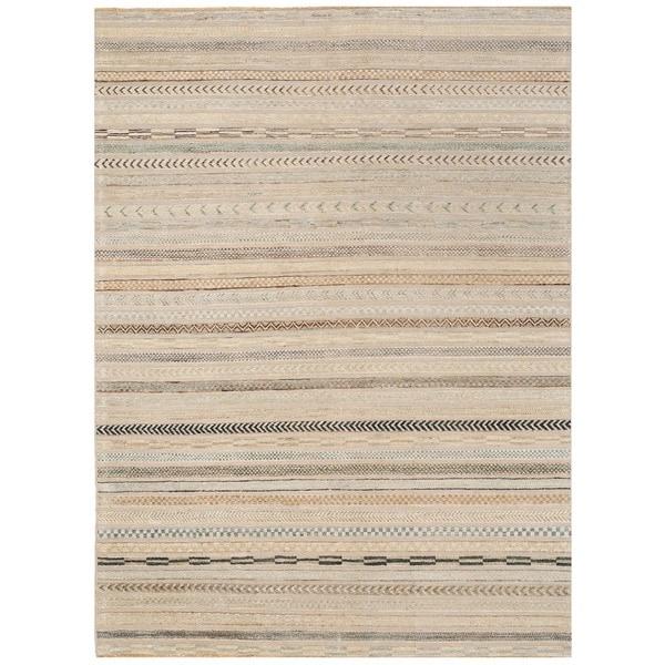 Herat Oriental Afghan Hand-knotted Vegetable Dye Gabbeh Wool Rug (4'9 x 6'6) 24903448