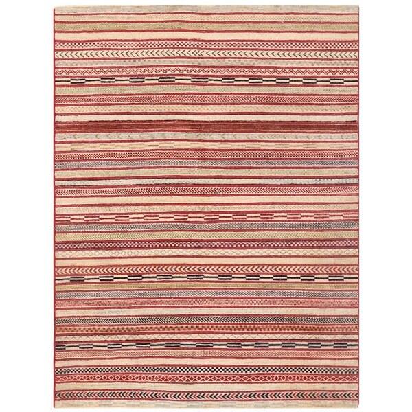 Herat Oriental Afghan Hand-knotted Vegetable Dye Gabbeh Wool Rug (5' x 6'6) 24903457