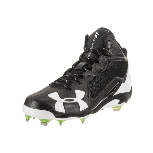 Under Armour Men's Deception Mid DT Black Synthetic Leather Baseball Cleat 24918517