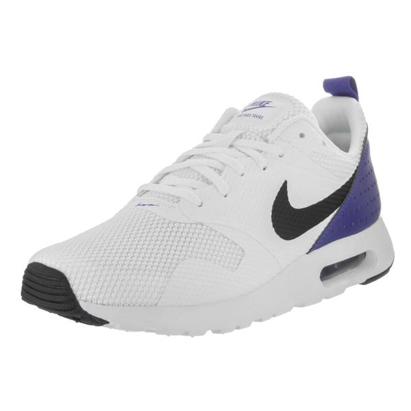 Nike Men's Air Max Tavas White Textile Running Shoe 24924049