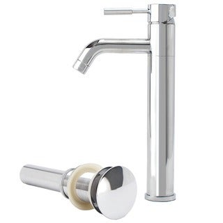 Fontaine Chrome Vessel Filler Faucet with Drain