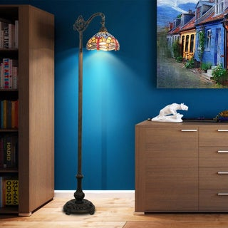 Tiffany-style Dragonfly Bridge Floor Lamp