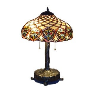 Tiffany-style Baroque Table Lamp