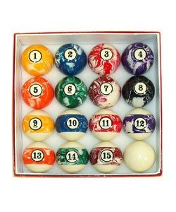 Color Swirls Billiard Ball Set