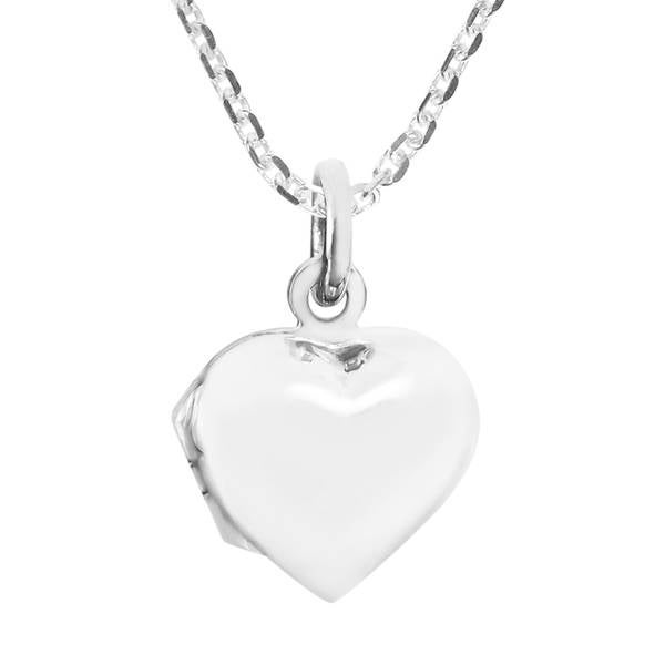 Handmade Sweet Love Small Heart Locket Sterling Silver Necklace (Thailand) 24940873