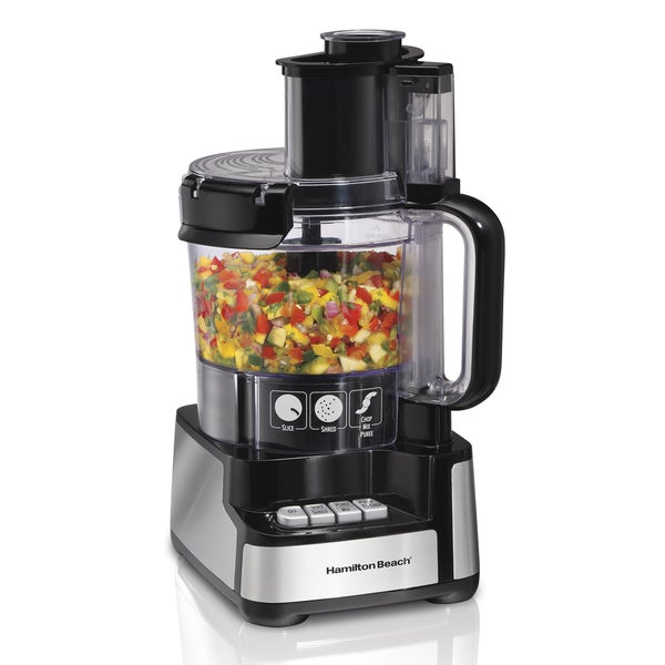 Recertified Hamilton Beach 12 Cup Stack & Snap Food Processor 24941876