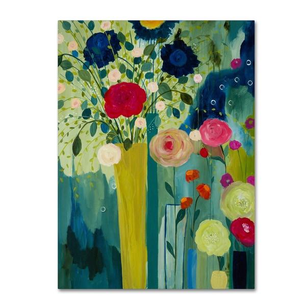 Carrie Schmitt 'Surround Yourself With Beauty' Canvas Art - Multi 24942984