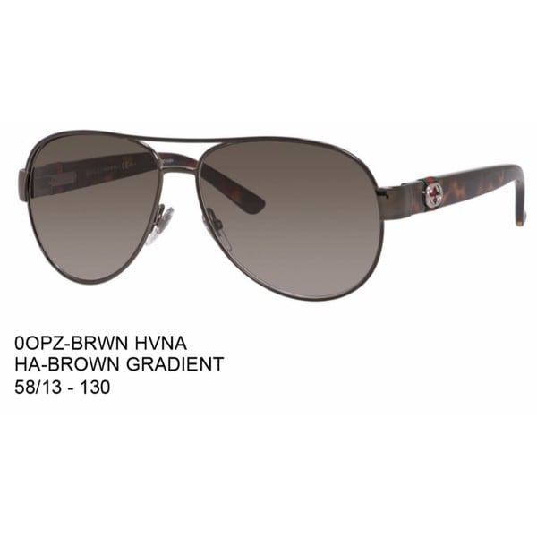 Gucci Aviator 4282/S-0OPZ Women's Brown Frame Brown Lens Sunglasses -  Ray Ban