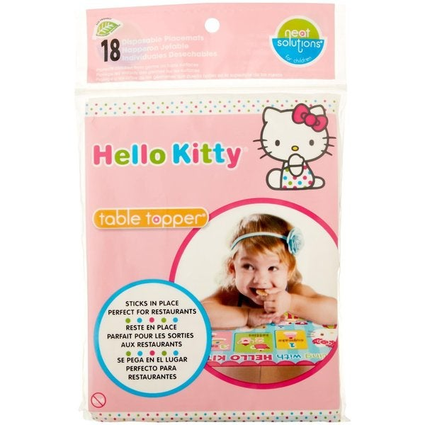 Neat Solutions Hello Kitty Table Toppers Disposable Placemats (Case of 18) 24945816