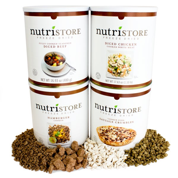 Nutristore Freeze-Dried Deluxe Meat Variety Kit ( 80 Large Servings) 24945945