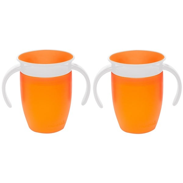 Munchkin Miracle 360 Orange Plastic 7-ounce Trainer Cups (Set of 2) 24963981