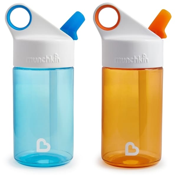 Munchkin Blue/Orange 12-ounce Sports Water Bottle (2 Pack) 24964393