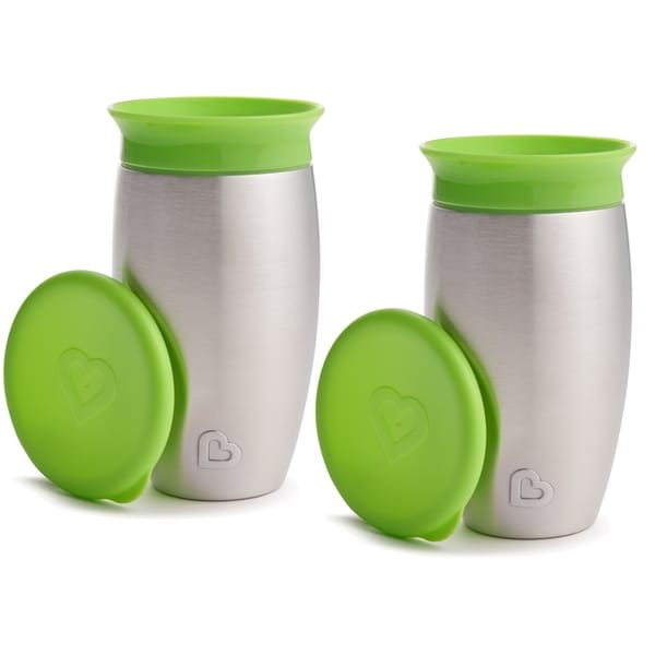 Munchkin Miracle 360 Green 10-ounce No Spill Sippy Cup (2 Pack) 24965128