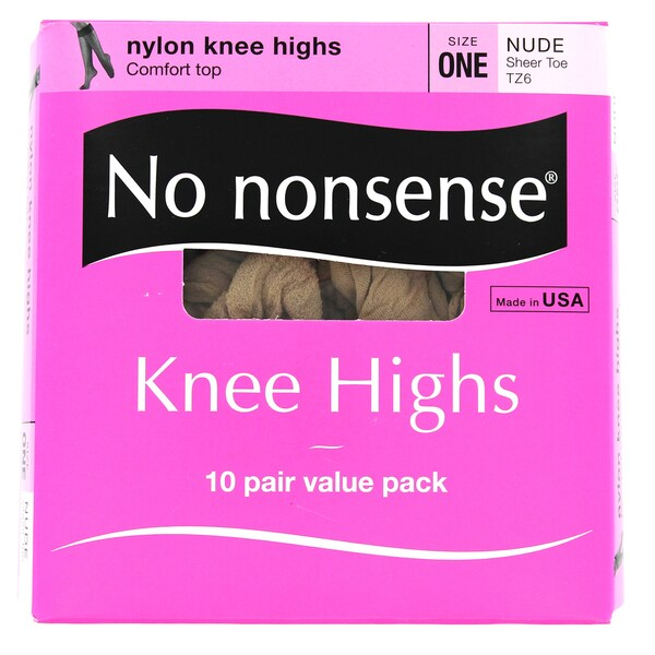 No Nonsense ZA1/TZ6 Nude Knee Highs 10-count 24966429