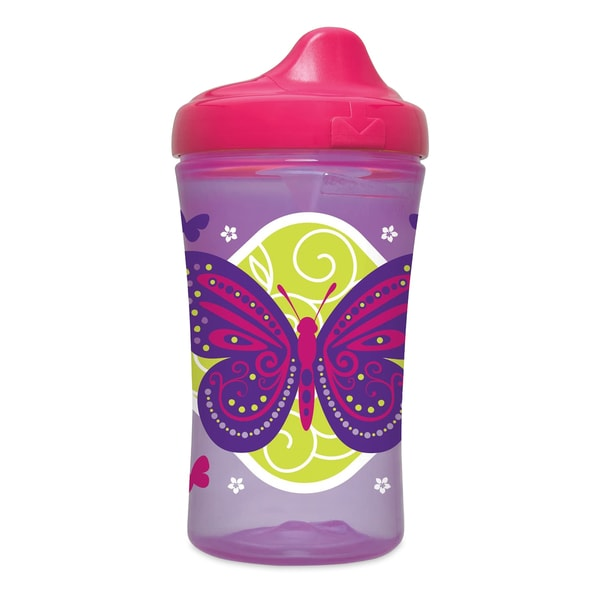 NUK Gerber Graduates Advance Purple Butterfly 10-ounce Hard Spout Sippy Cup 24966448