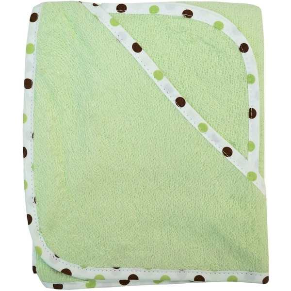 American Baby Company Celery Green Organic Cotton Hooded Towel Set 24966548