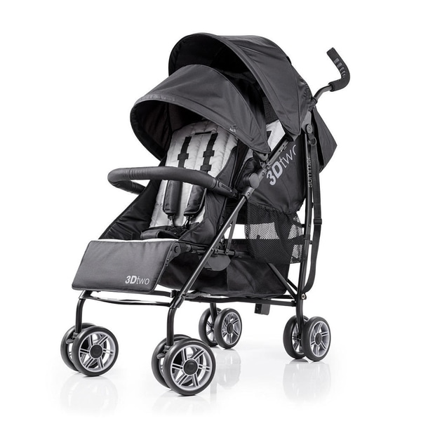 Summer Infant Black 3D Two Double Convenience Stroller 24966564