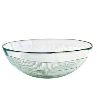 """French Home 12"""" Ice Clear Birch Salad Bowl"""