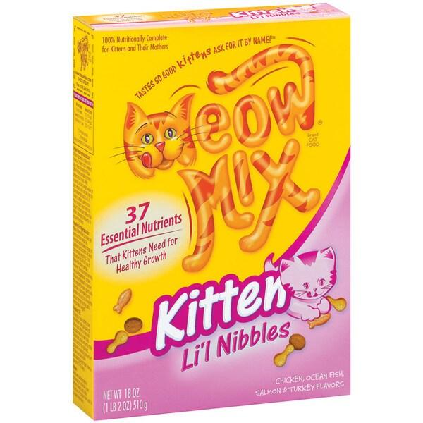 Meow Mix 18 Oz Kitten Li'L Nibbles Dry Cat Food 24967892