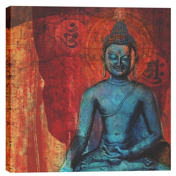 Epic Graffiti Elena Ray 'Blue Buddha' Giclee Canvas Wall Art 24981031