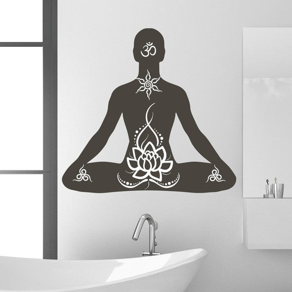 Style and Apply Lotus Pose Vinyl Wall Decal 24981178