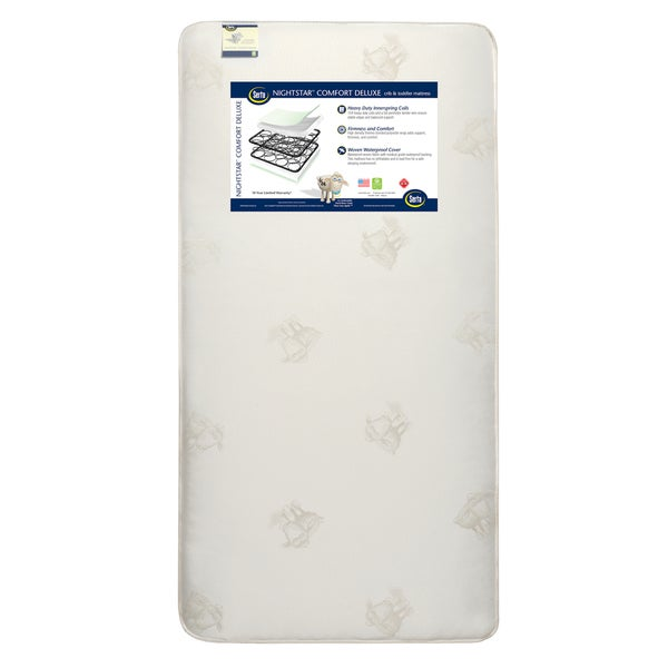 Serta Nightstar Comfort Deluxe Crib and Toddler Mattress 24995959