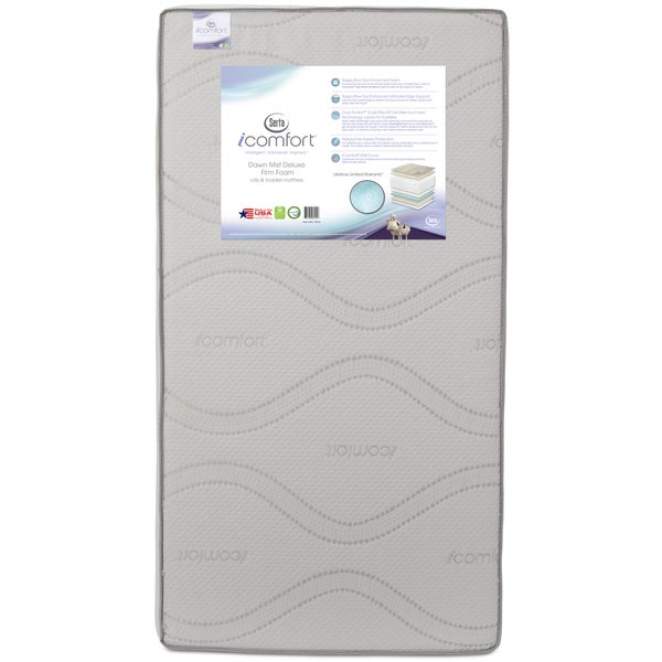 Serta iComfort Mirage Deluxe Foam Crib and Toddler Mattress 24995961
