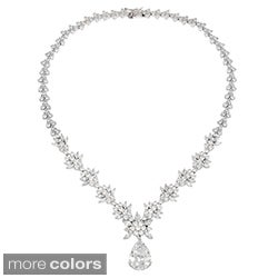 Icz Stonez Sterling Silver CZ Exquisite Wedding Necklace