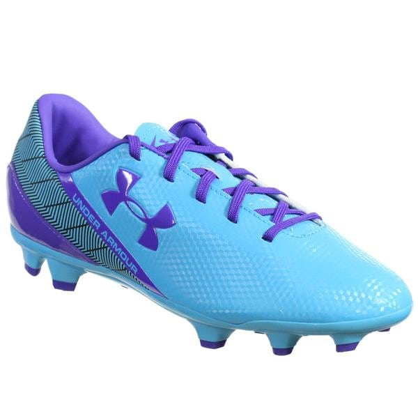 Under Armour Women's Aqua Purple Soccer Cleats 25016935