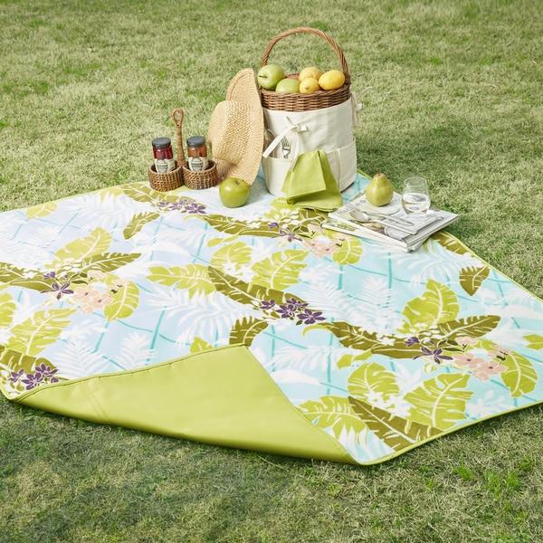Madison Park Freeport Multi/ Green Waterproof Picnic Blanket 25043913