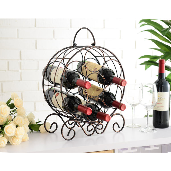 Copper Metal Wine Rack 25095960