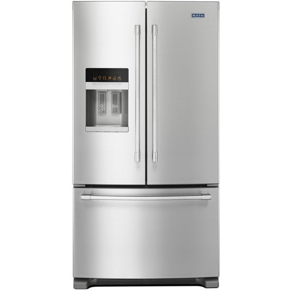 """4-Piece Stainless Steel Kitchen Package with MFI2570FEZ 36"""""""" French Door Refrigerator  MGR8800FZ 30"""""""" Freestanding Gas Range  MDB8959SFZ 24"""""""" Fully Integrated"""" 714759"""