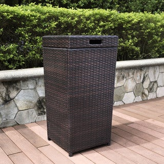Palm Harbor Outdoor Wicker Trash Bin