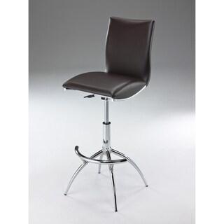 Adjustable Swivel Faux Leather Barstool (Set of 2)
