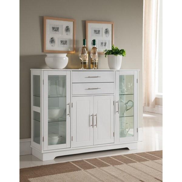 White Wood Kitchen Storage Cabinet 25100320