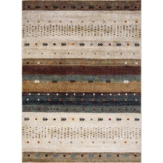 "Concord Global Diamond Native Beige Area Rug - 2'7"" x 5'"