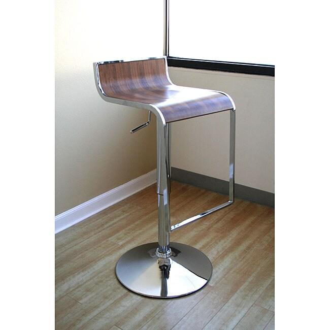 Baxton Studio Modern Adjustable Curved Bar Stool