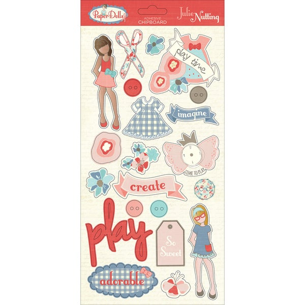 "Paper Dolls Chipboard 6""X13"" By Julie Nutting 25131569"