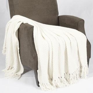 Home Soft Things Jumbo Knitted Tweed Throw Blanket