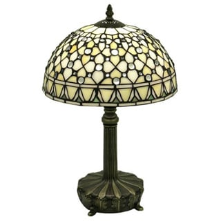 Tiffany-style White Jewel Lamp