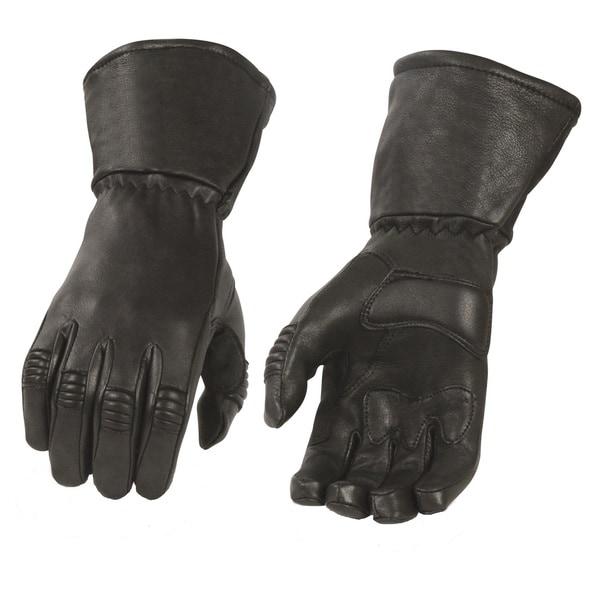 Men's Deerskin Leather Thermal Lined Gauntlet Gloves 25136868