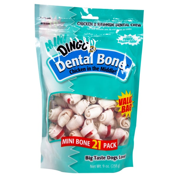 8 in 1 Mini Dingo Dental Bone Dog Treats 21 Count 25158825