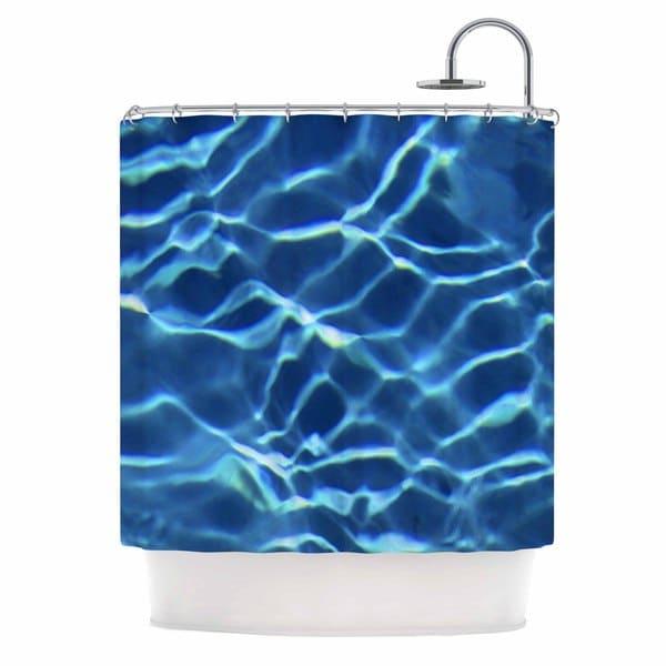 KESS InHouse Philip Brown Blue Pool Aqua White Shower Curtain (69x70) 25159237
