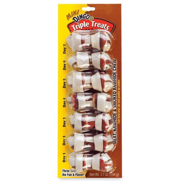 8 in 1 Dingo Triple Treat Dog Bones 7 Count 25159682