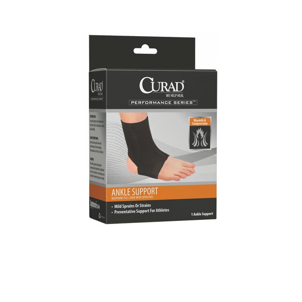 Curad Neoprene Pull-Over Ankle Support with Open Heel 25171392