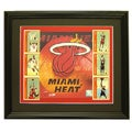 Custom Framed Miami Heat Photo and Trading Cards