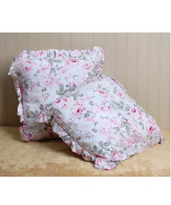 Pink Rosalie Print Decorative Pillows (Set of 2)