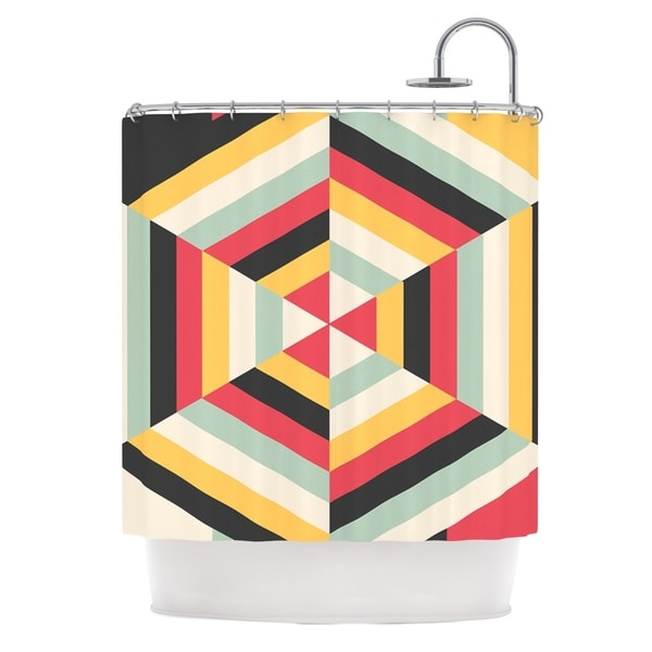 KESS InHouse Danny Ivan On Call Red Yellow Shower Curtain (69x70) 25185663